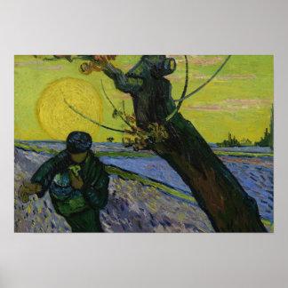 Vincent van Gogh - The Sower Poster