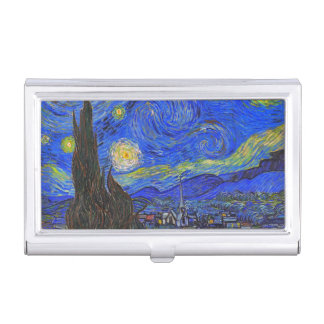 Vincent van Gogh - The Starry Night (1889) Business Card Holder