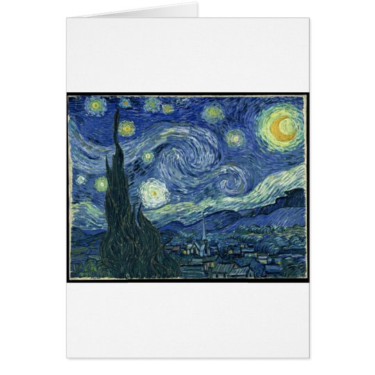Vincent Van Gogh - The Starry Night (1889) Card