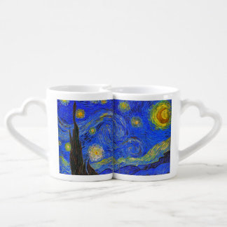 Vincent van Gogh - The Starry Night (1889) Couples' Coffee Mug Set