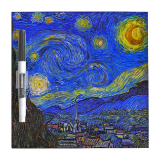 Vincent van Gogh - The Starry Night (1889) Dry Erase Board