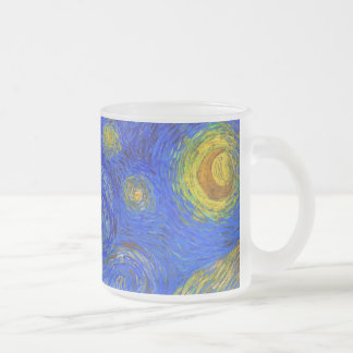Vincent van Gogh - The Starry Night (1889) Frosted Glass Coffee Mug