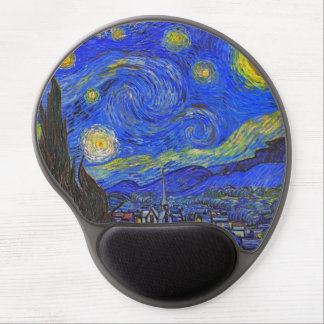 Vincent van Gogh - The Starry Night (1889) Gel Mouse Pad