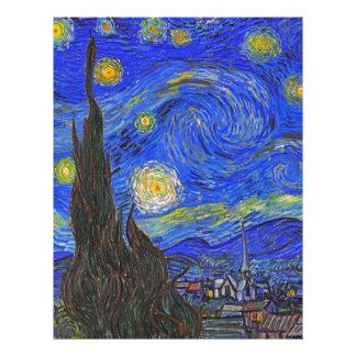 Vincent van Gogh - The Starry Night (1889) Letterhead