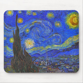 Vincent van Gogh - The Starry Night (1889) Mouse Pad