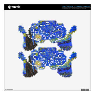 Vincent van Gogh - The Starry Night (1889) PS3 Controller Skin
