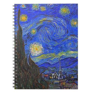 Vincent van Gogh - The Starry Night (1889) Spiral Notebook