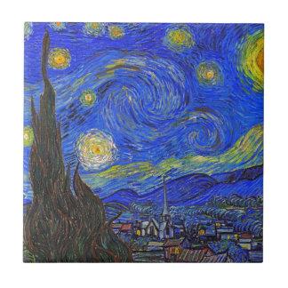 Vincent van Gogh - The Starry Night (1889) Tile