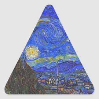Vincent van Gogh - The Starry Night (1889) Triangle Sticker