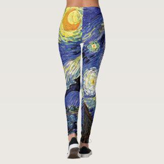 Vincent Van Gogh - The Starry Night Fine Art Leggings