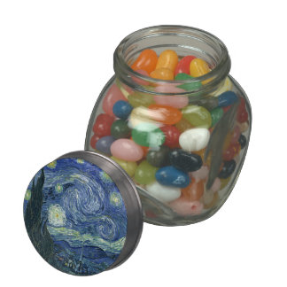 Vincent Van Gogh The Starry Night Glass Candy Jars