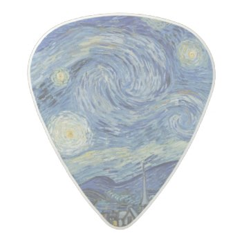 Vincent Van Gogh | The Starry Night  June 1889 Acetal Guitar Pick by bridgemanimages at Zazzle