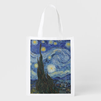 Vincent van Gogh | The Starry Night, June 1889 Reusable Grocery Bag