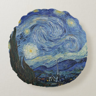 Vincent van Gogh | The Starry Night, June 1889 Round Pillow