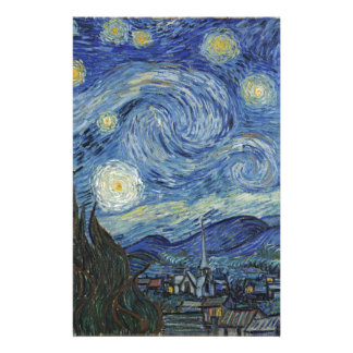 Vincent van Gogh   The Starry Night, June 1889 Stationery