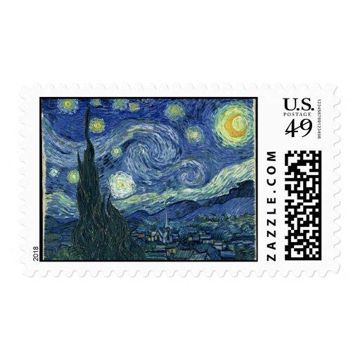 Vincent Van Gogh The Starry Night Postage