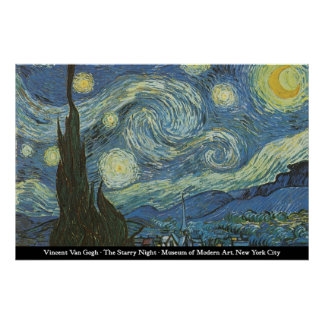 Vincent Van Gogh - The Starry Night Poster
