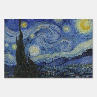 Vincent van Gogh The Starry Night Yard Sign
