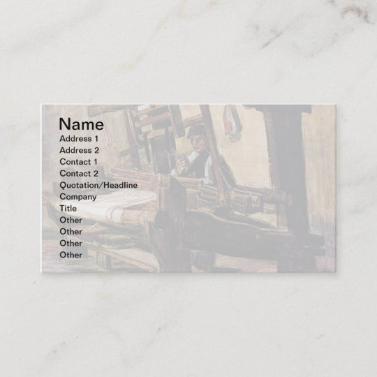 Vincent Van Gogh The Weaver Fine Art Business Card Zazzle Com