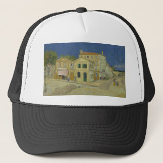 Vincent Van Gogh The Yellow House Painting Trucker Hat