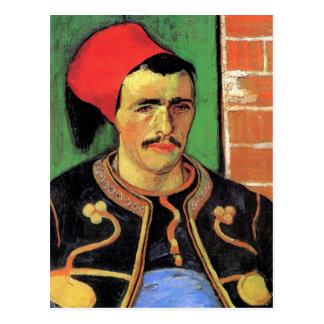 Vincent Van Gogh - The Zouave - Soldier Portrait Postcard