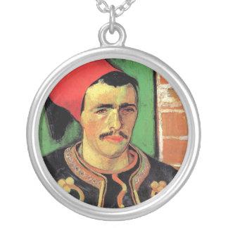 Vincent Van Gogh - The Zouave - Soldier Portrait Silver Plated Necklace