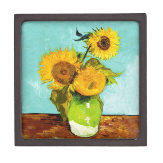 Vincent Van Gogh Three Sunflowers In A Vase Gift Box