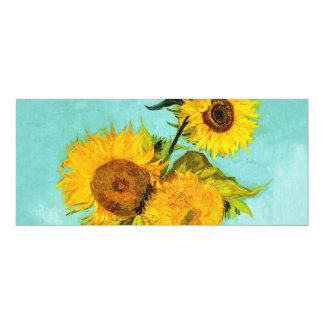 Vincent Van Gogh Three Sunflowers In A Vase Personalized Announcement