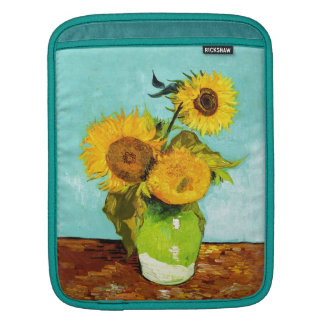 Vincent Van Gogh Three Sunflowers In A Vase iPad Sleeves