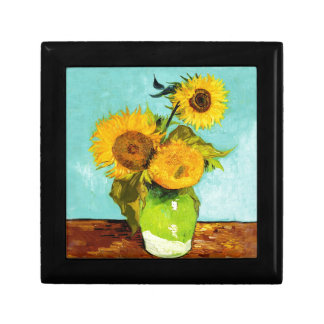 Vincent Van Gogh Three Sunflowers In A Vase Jewelry Box