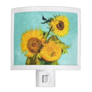 Vincent Van Gogh Three Sunflowers In A Vase Night Light