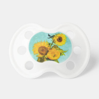 Vincent Van Gogh Three Sunflowers In A Vase Pacifier