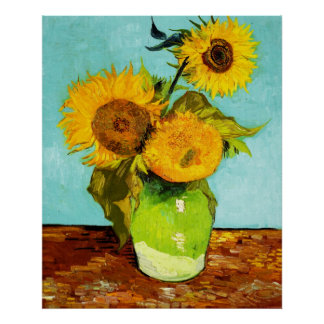 Vincent Van Gogh Three Sunflowers In A Vase Posters
