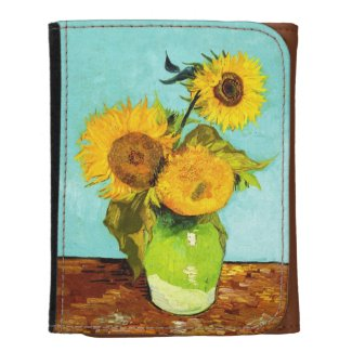 Vincent Van Gogh Three Sunflowers In A Vase Wallet