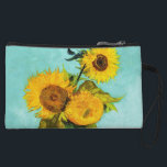 "Vincent Van Gogh Three Sunflowers In A Vase Wristlet<br><div class=""desc"">Vincent Van Gogh Three Sunflowers In A Vase Fine Art Painting Sunflowers (original title in French: Tournesols) are the subject of two series of still life paintings by the Dutch painter Vincent van Gogh. The earlier series executed in Paris in 1887 depicts the flowers lying on the ground, while the...</div>"