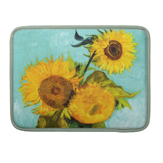 Vincent Van Gogh Three Sunflowers MacBook Pro Sleeves