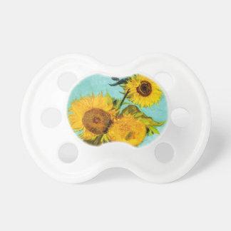 Vincent Van Gogh Three Sunflowers Pacifier