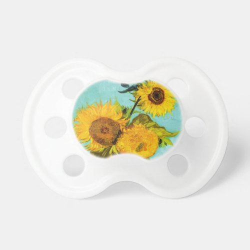 Vincent Van Gogh Three Sunflowers Pacifier