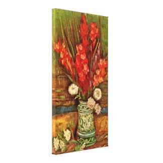 Vincent van Gogh - todavía vida con los gladiolos Impresion De Lienzo