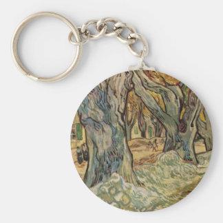 Vincent van Gogh - trabajadores del camino Llaveros