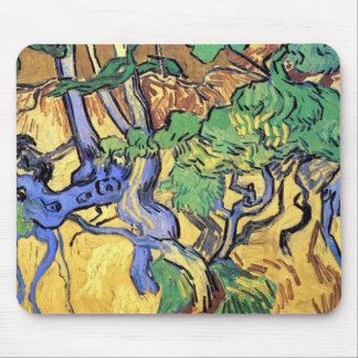 Vincent Van Gogh - Tree Roots And Trunks Fine Art Mouse Pad