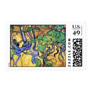 Vincent Van Gogh - Tree Roots And Trunks Fine Art Postage