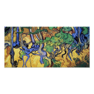 Vincent Van Gogh - Tree Roots And Trunks Fine Art Poster