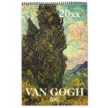 Vincent van Gogh Trees and Nature Vintage Fine Art Calendar