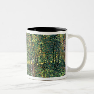 Vincent van Gogh | Trees and Undergrowth, 1887 Two-Tone Coffee Mug