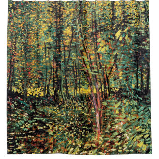 Vincent Van Gogh - Trees And Undergrowth Fine Art Shower Curtain