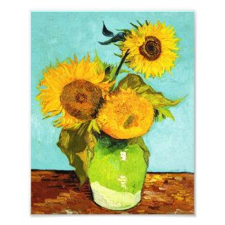 Vincent van Gogh tres girasoles en un florero Fotografías