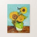 Vincent van Gogh tres girasoles en un florero Rompecabeza