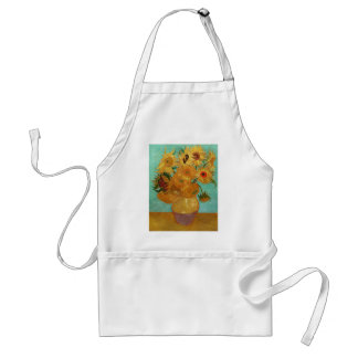 Vincent Van Gogh Twelve Sunflowers In A Vase Adult Apron