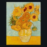 "Vincent Van Gogh Twelve Sunflowers In a Vase Art Poster<br><div class=""desc"">Vincent Van Gogh Twelve Sunflowers In a Vase Art Poster</div>"
